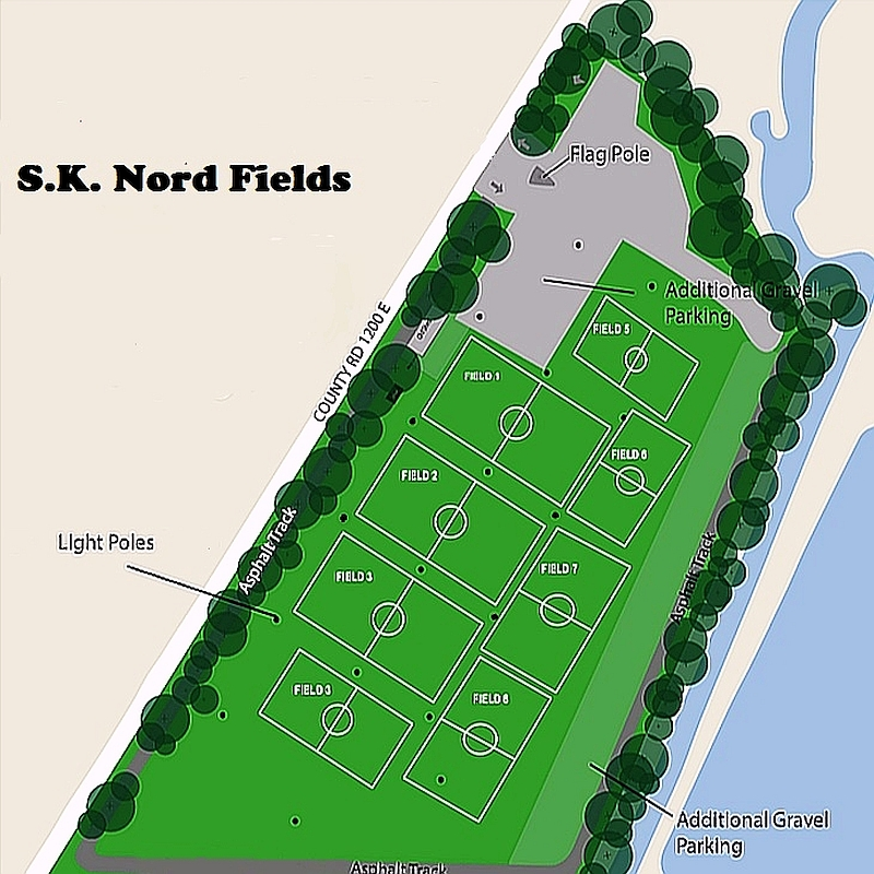 S.K. Nord Fields Site Map